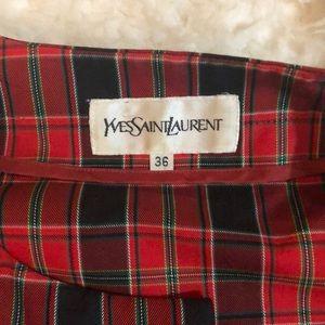 Yves Saint Laurent Jackets & Coats - Vintage Yves Saint Laurent plaid cropped jacket